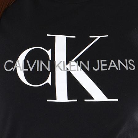 Calvin Klein - Tee Shirt Femme Core Monogram Logo 7878 Noir
