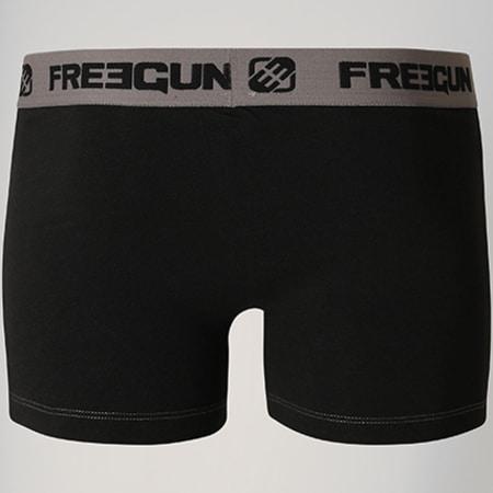 Freegun - Lot De 3 Boxers Coton Bi Stretch Noir Gris
