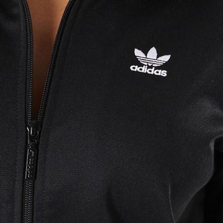 adidas Veste Zippée Femme Contemp BB DH3192 Noir Blanc
