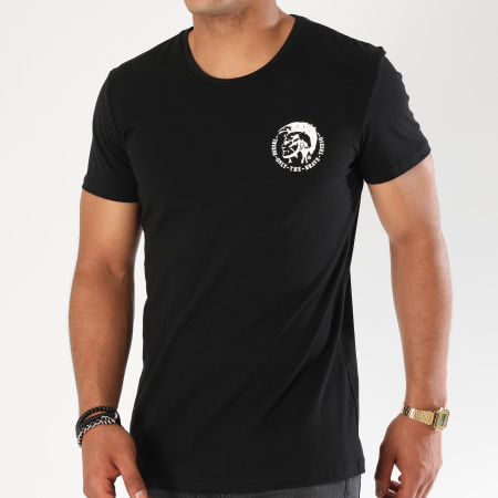 Diesel - Lot De 3 Tee Shirts All Timers 00SJ5L-0TANL Blanc Bleu Marine Noir