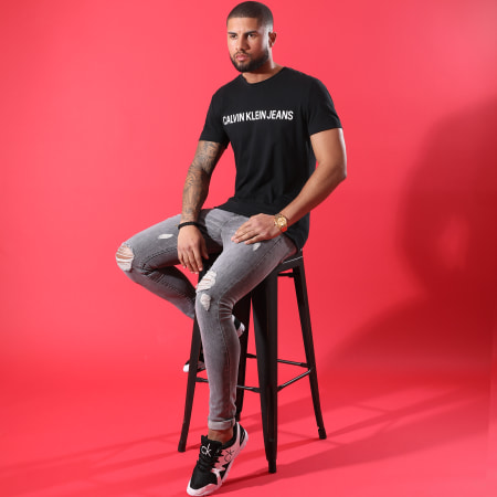 Calvin Klein - Tee Shirt Basic Institutional Logo 7855 Noir