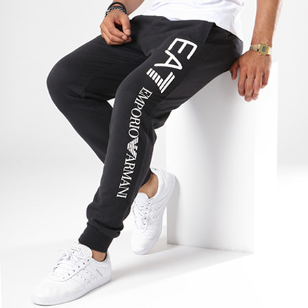 EA7 - Pantalon Jogging 8NPPC3-PJ05Z Noir Blanc