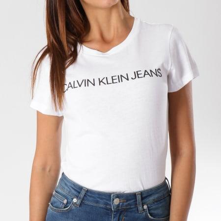 Calvin Klein - Tee Shirt Femme 7879 Blanc