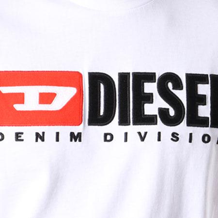 Diesel - Tee Shirt Just Division 00SH0I-0CATJ Blanc