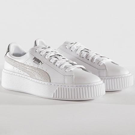 Puma Baskets Femme Platform Euphoria Metal 367850 01 White