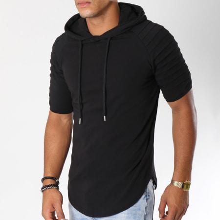 LBO - Tee Shirt Capuche Oversize 463 Noir