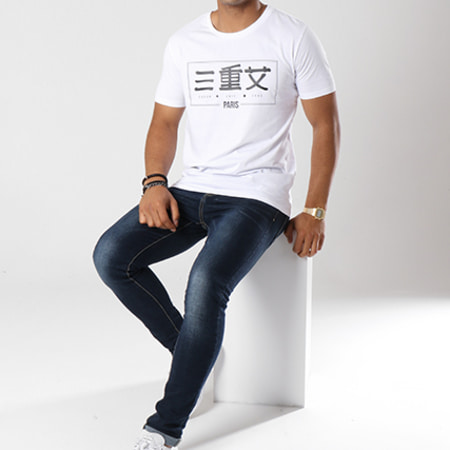 13 Block - Tee Shirt Triple S Blanc