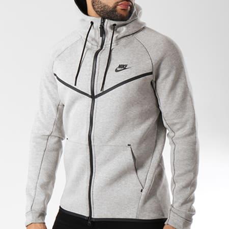 Nike Sweat Zippé Capuche Tech Fleece 805144 072 Gris Chiné