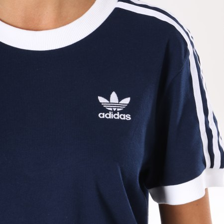 T Shirt Adidas 3 Stripes,Bleu,L: : Vêtements et