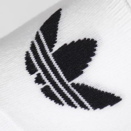 adidas - Lot De 3 Paires De Chaussettes Invisibles Show CV5941 Blanc