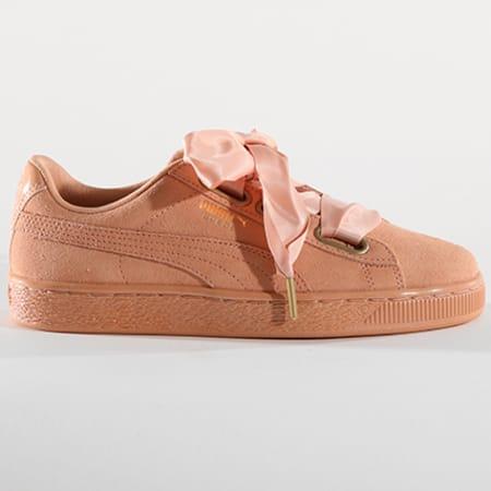 Puma Baskets Femme Suede Heart Satin 362714 05 Dusty Coral