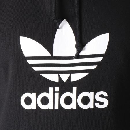 adidas - Sweat Capuche Trefoil DT7964 Noir Blanc