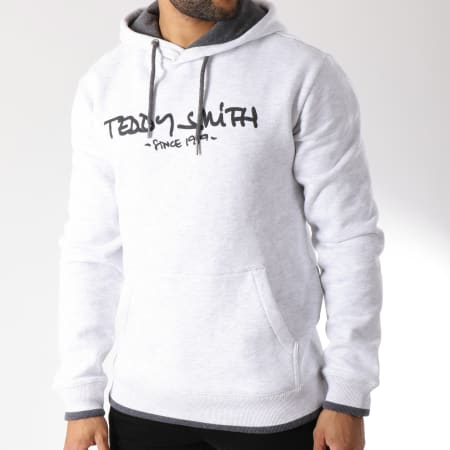 Teddy Smith - Sweat Capuche Siclass Gris Chiné
