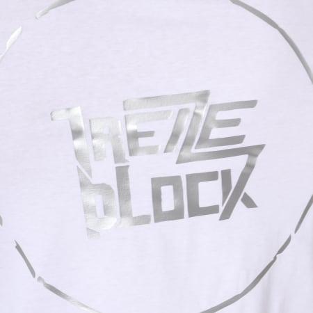 13 Block - Tee Shirt Essaye De Briller Blanc Argenté