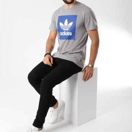 adidas Tee Shirt Solid BB DH3864 Gris Chiné Bleu Marine