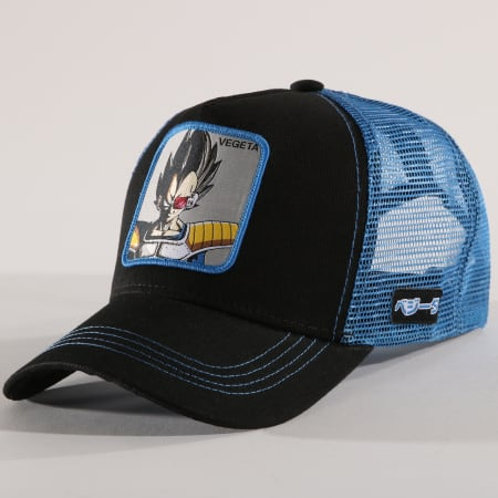 Dragon Ball Z - Casquette Trucker Vegeta Noir Bleu Clair