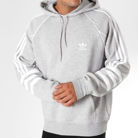 adidas Sweat Capuche Authentic DH3852 Gris Chiné