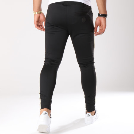 Project X - Pantalon Jogging Bandes Brodées 88184441 Noir Doré Ecru