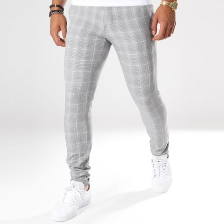 Classic Series - Pantalon A Carreaux 28010 Gris