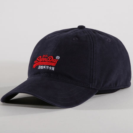 Superdry Casquette Orange Label Twill Bleu Marine