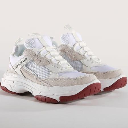 Calvin Klein Baskets Marvin Mesh Lycra Suede S1770 White