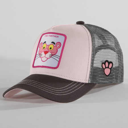 La Panthere Rose - Casquette Trucker Pink Panther Gris Rose