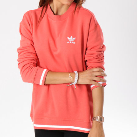adidas - Sweat Crewneck Femme Active Icons DH2976 Corail