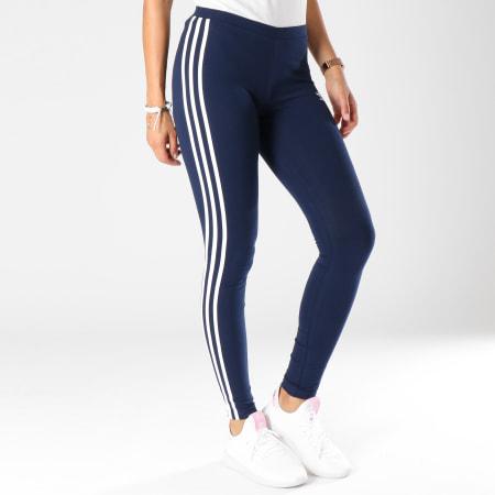 adidas - Legging Femme 3 Stripes DH3182 Bleu Marine ...