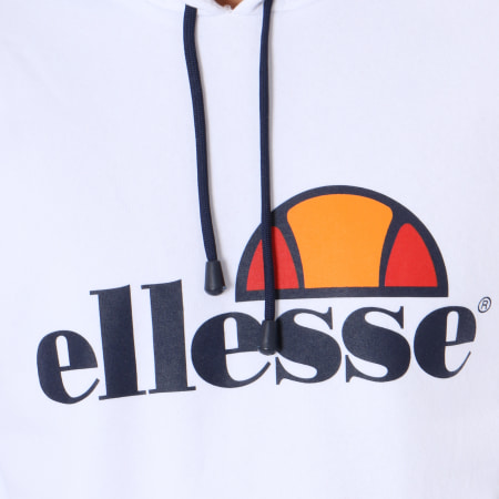Ellesse - Sweat Capuche Uni Bis Blanc