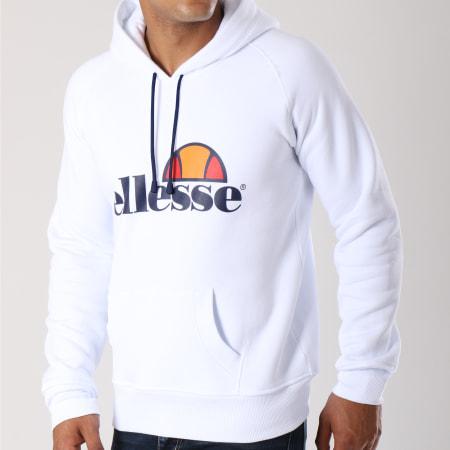 Ellesse - Sweat Capuche Uni Blanc Bleu Marine