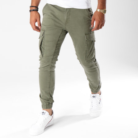 Jack And Jones - Pantalon Cargo Paul Flake Vert Kaki