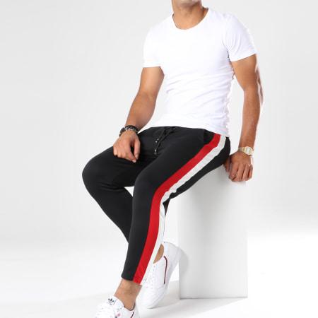 Frilivin - Pantalon Jogging Avec Bandes 1393 Noir