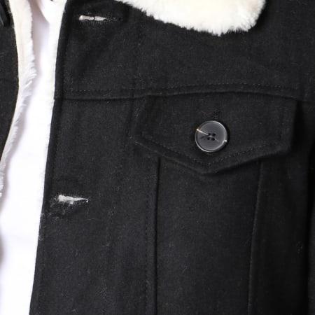 Frilivin - Veste Col Mouton QQ511 Noir