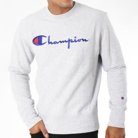 Champion - Sweat Crewneck 212576 Gris Chiné
