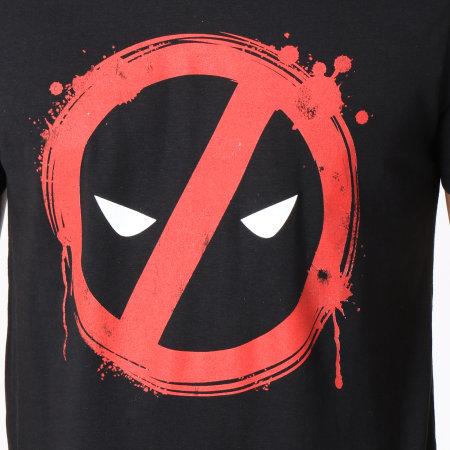 Marvel - Tee Shirt Deadpool Forbiden Splash Head Noir