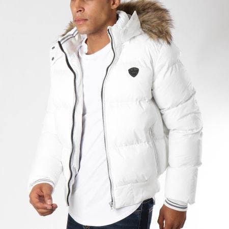Schott NYC - Doudoune Fourrure 2108J Blanc