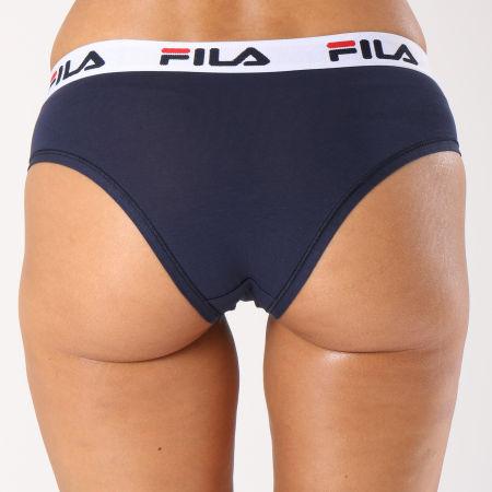 Fila - Culotte Femme Brief FU6043 Bleu Marine Blanc Noir