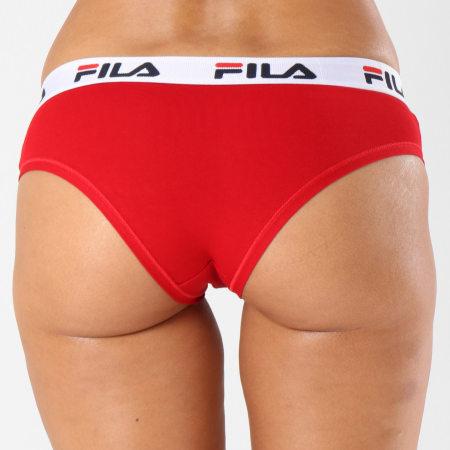 Fila - Culotte Femme Brief FU6043 Rouge Blanc Noir