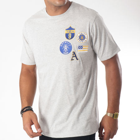 Anthill - Tee Shirt Badge Gris Chiné