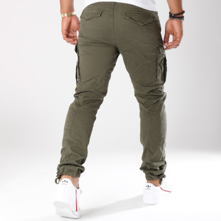 Jack And Jones - Pantalon Cargo Drake Chop Vert Kaki
