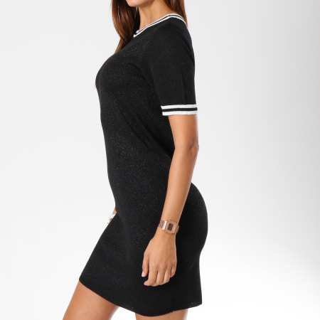 Only - Robe Manches Courtes Femme Galaxy Noir