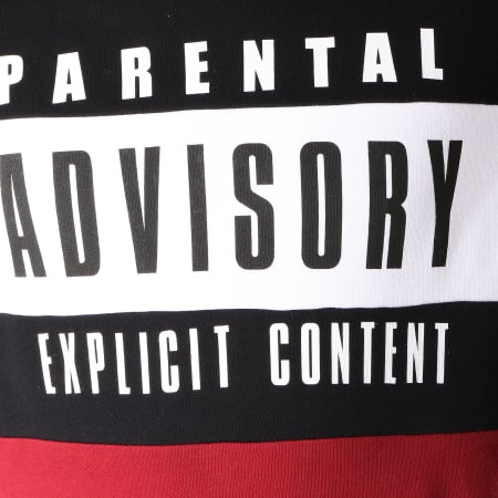 Parental Advisory - Sweat Capuche Block Bordeaux Noir