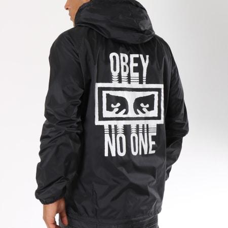 Obey Coupe Vent Capuche No One Noir