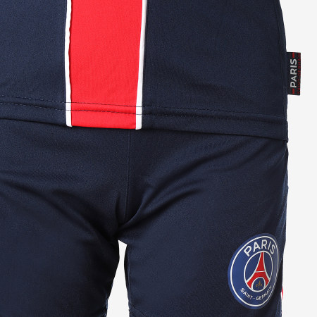 PSG - Ensemble Tee Shirt Short Jogging Enfant P12475 Bleu Marine Rouge