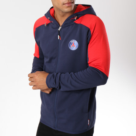 PSG - Sweat Zippé Capuche Paris Saint-Germain Bleu Marine
