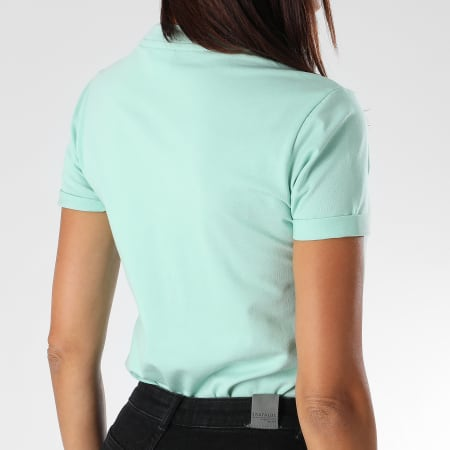 adidas Tee Shirt Femme Trefoil DH3176 Bleu Turquoise