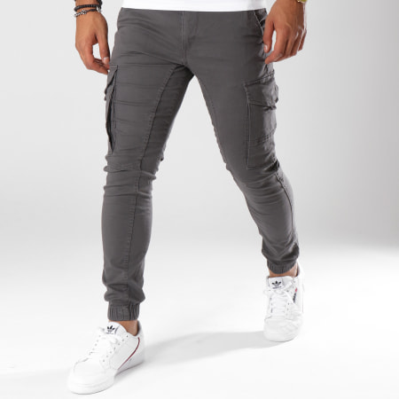 Jack And Jones - Pantalon Cargo Paul Flake Gris
