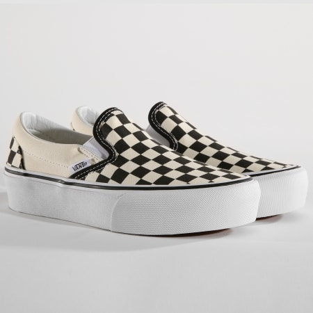 Vans Baskets Femme Classic Slip On 18EBWW Black And White