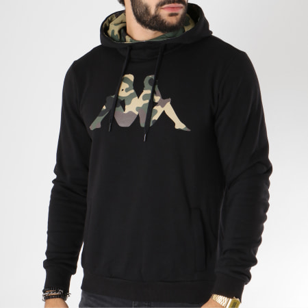 Kappa Sweat Capuche Authentic Occhio 303G6T0 Noir