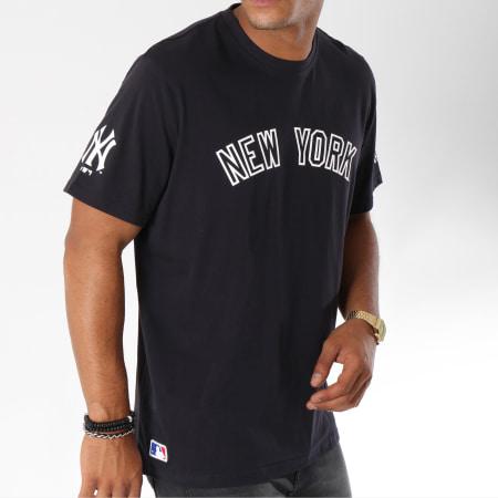 New Era - Tee Shirt Post Grad Pack Wordmark New York Yankees Bleu Marine